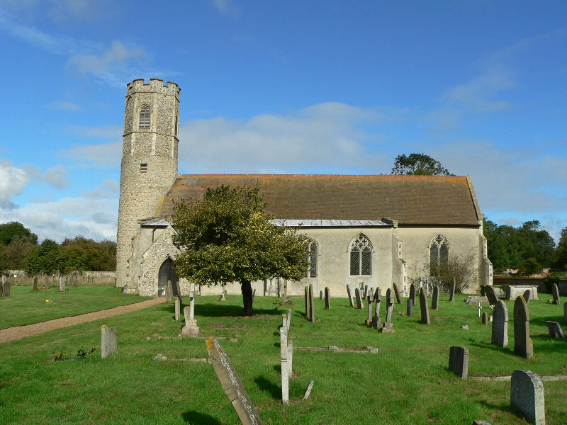 Photo of All Saints' Church in Woodton.