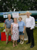 Our Toilet Twinning themed stand at the Biggin Hill Festival 6 July. Cllrs Julian Benington and Melanie Stevens, Rev Alison Newman and Jo Johnson MP