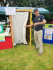 Our Toilet Twinning themed stand at the Biggin Hill Festival 6 July. Mark Newman shows off the replica latrine