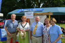 Our Toilet Twinning themed stand at the Biggin Hill Festival 6 July. Cllr Julian Benington, Mayoress and Mayor of Bromley, Cllr Melanie Stevens and Rev Alison Newman