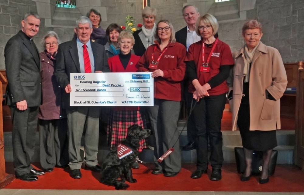 Hearing Dogs for Deaf People Cheque