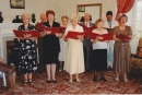 The choir entertains residents of Leslie House Eventide Home, Leslie.