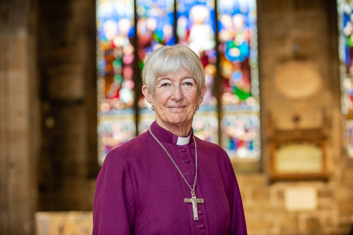 Bishop Christine in Newcastle Cathedral