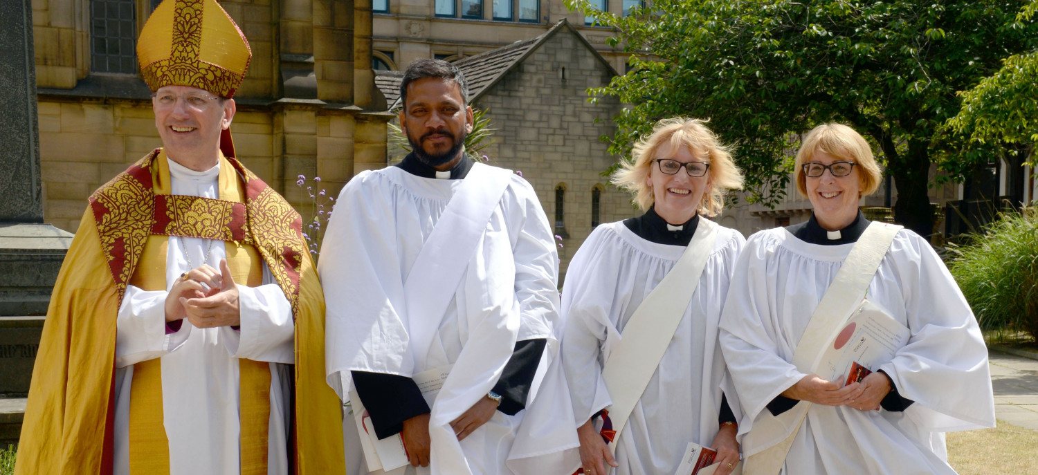 Clergy at an ordination service