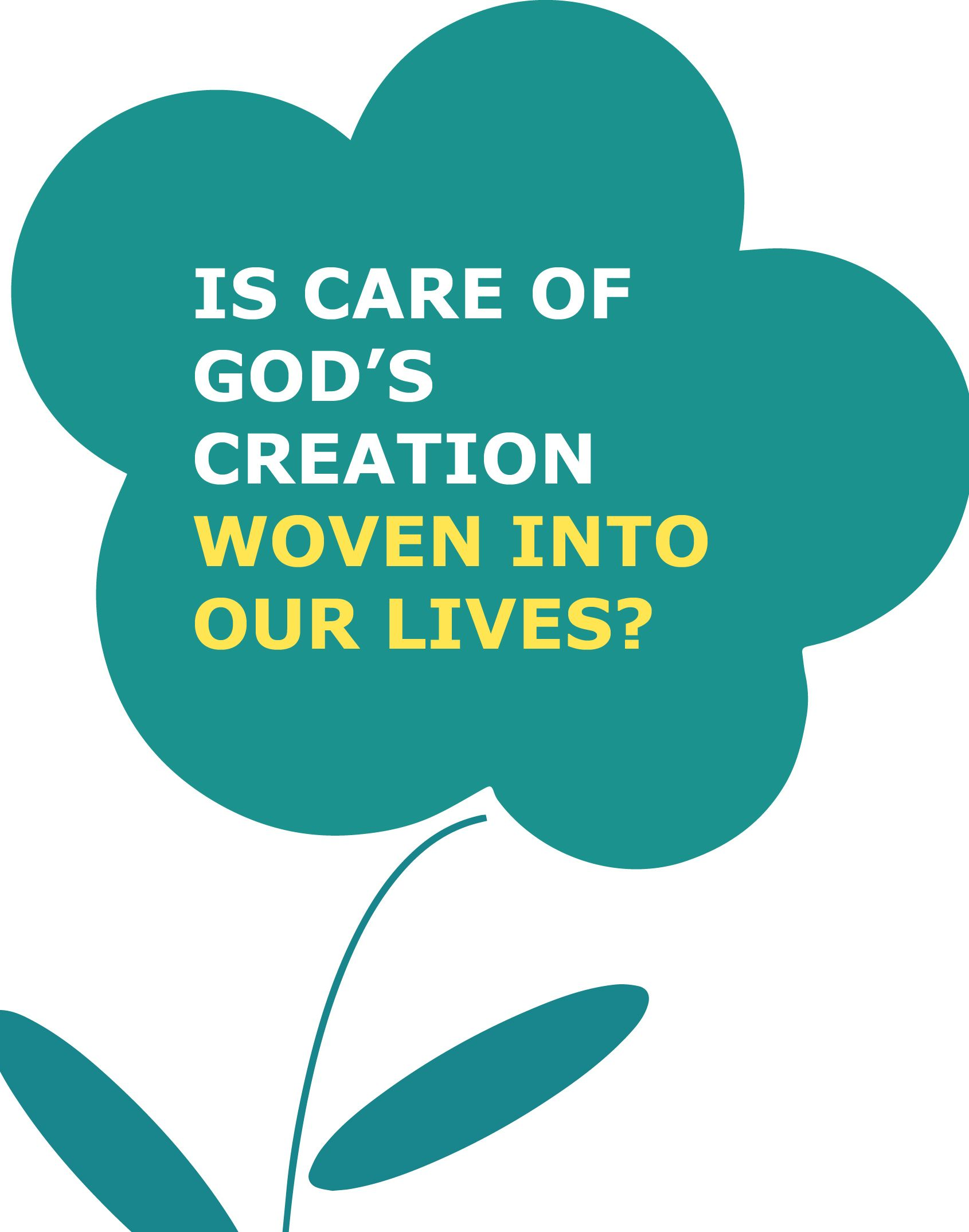 Is care of God's creation woven into our lives?