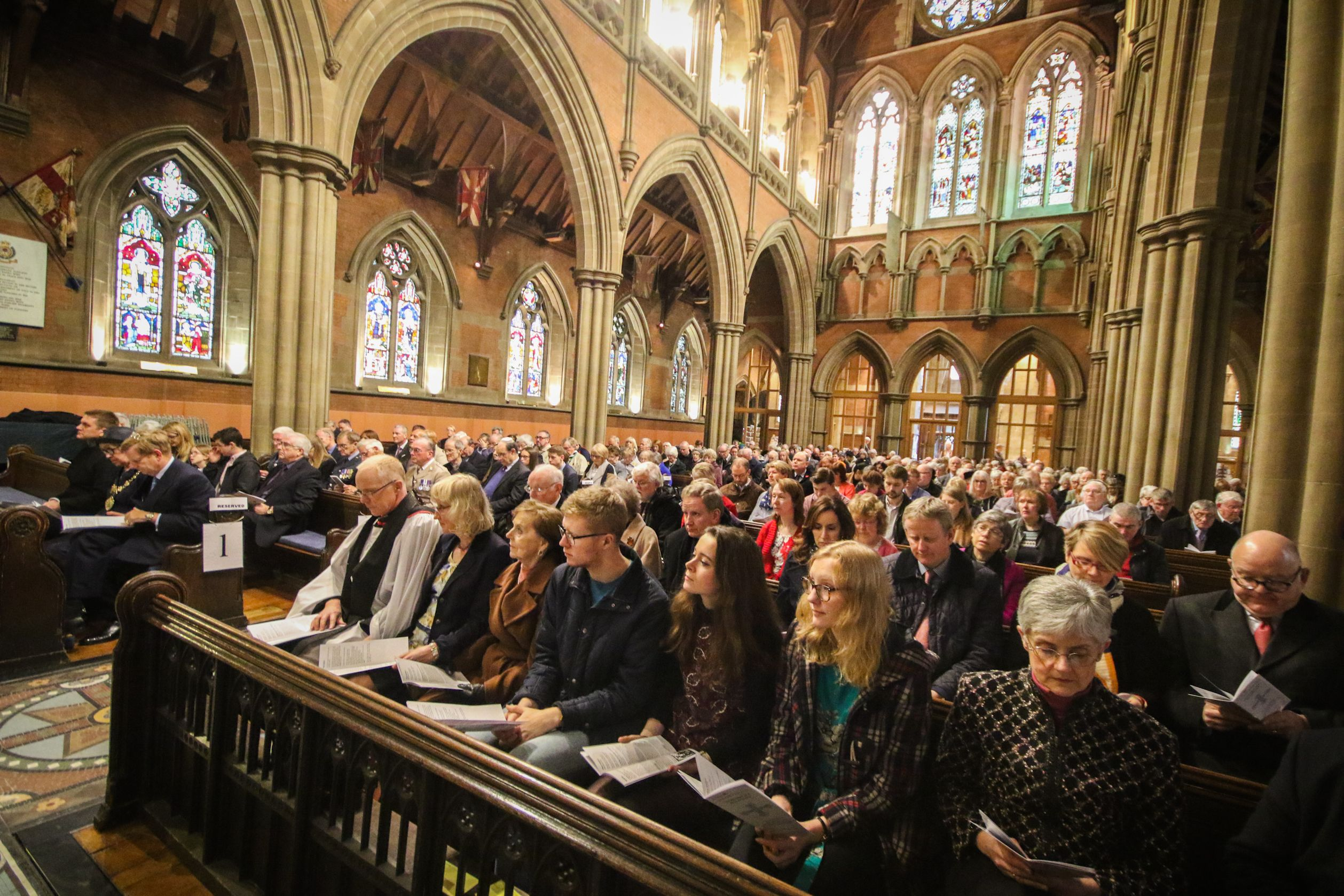 Congregation at Bury parish church
