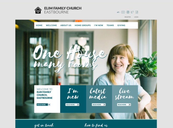Elim Family Church website