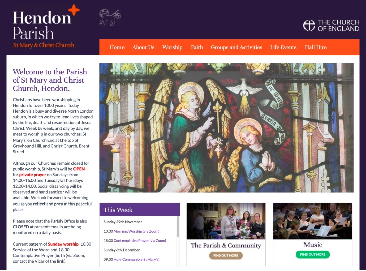 Hendon Parish Church website