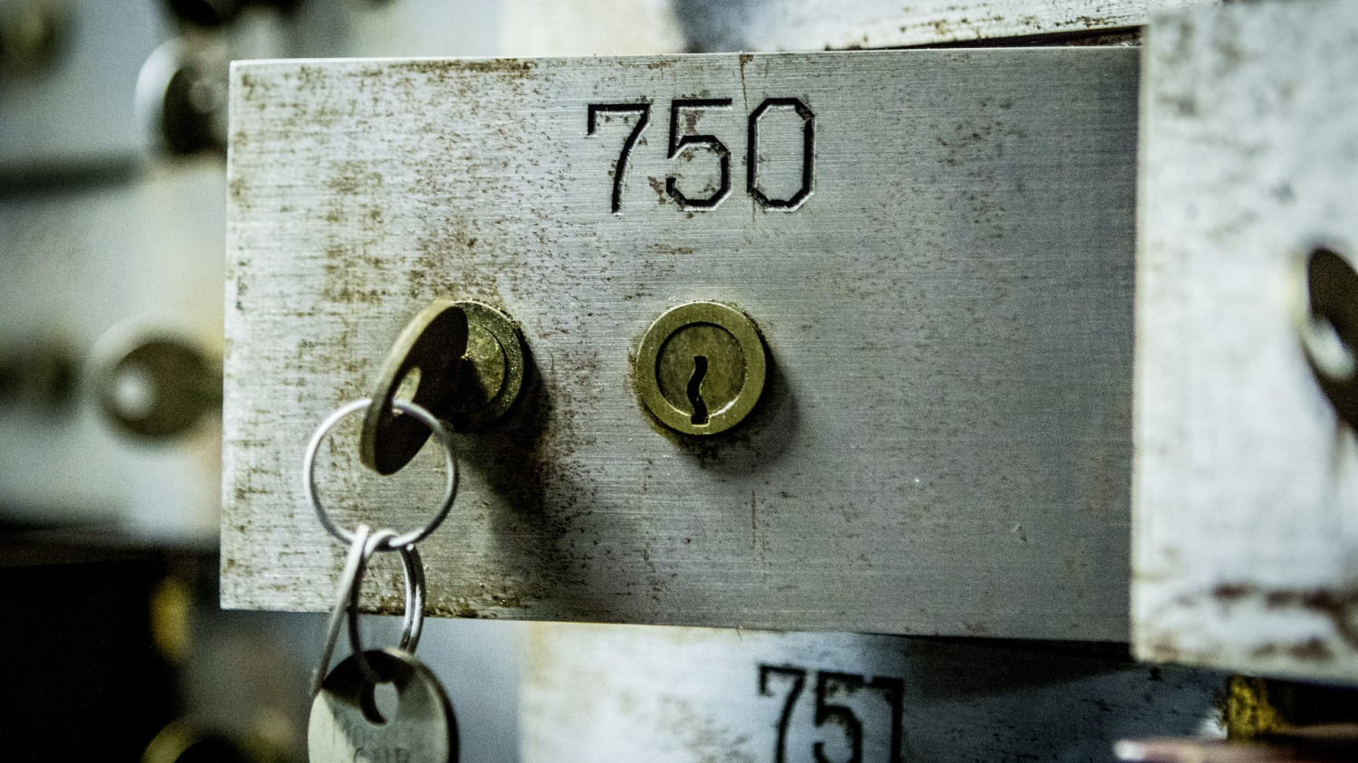 Image of an open safety deposit box
