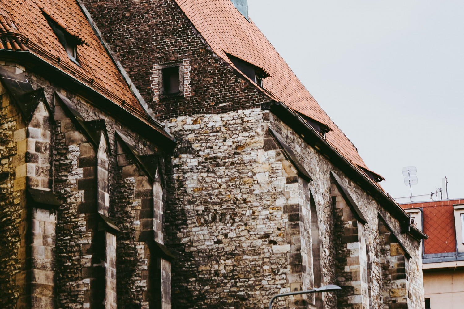 Image of an old red brick church