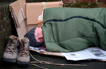 Bishop James homeless