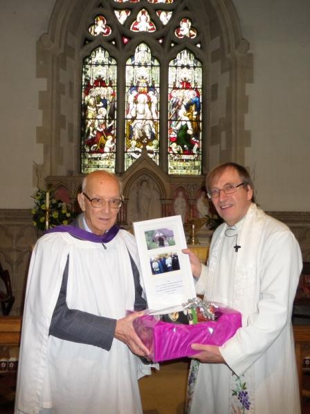 Brian Shilling  and Rector John Benson