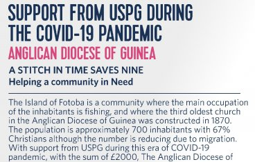Open Support from USPG during the Covid-19 Pandemic - Guinea