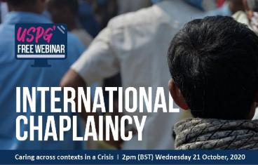 Open USPG webinar International Chaplaincy - Caring across contexts in a crisis.
